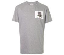 T-Shirt mit Blumen-Patch