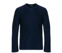 ribbed crew neck jumper