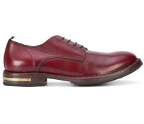 Derby-Schuhe mit goldfarbenem Detail