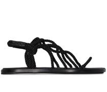 Flache Sandalen mit Seildetails