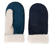 Shearling-Handschuhe in Colour-Block-Optik