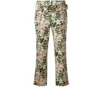 Knöchellange Jacquard-Hose - women - Polyester