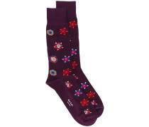 Socken mit Blumenmuster