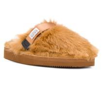 Slipper aus Faux Fur