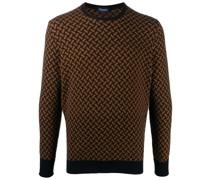 geometric-jacquard sweater