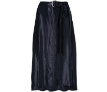 belted flared skirt