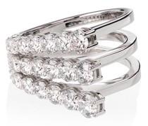 18kt 'Aria' Weißgoldring mit Diamanten