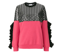 star frill trim jumper