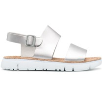 Sandalen in metallischer Optik