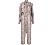 Seiden-Jumpsuit mit Animal-Print