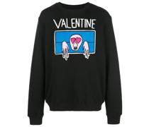 """Sweatshirt mit """"Valentine""""-Print"""