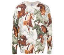 Pullover mit Pferde-Print