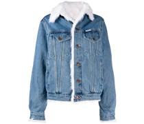 Jeansjacke mit Faux-Fur-Futter