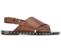Sandalen mit überkreuztem Riemen - men - Leder