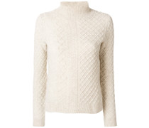 roll neck cable stitch jumper - Unavailable