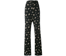 floral print trousers - women