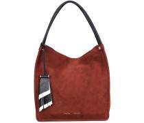 Mittelgroße Wildleder-Handtasche