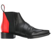 - Stiefel mit Kontrasteinsatz - women - Leder - 38