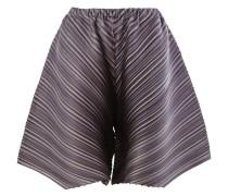 Diagonal plissierte Shorts