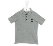 Poloshirt mit Logo-Schild - kids - Baumwolle
