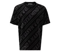 T-Shirt in Velours-Optik
