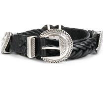 heart embellished buckled belt