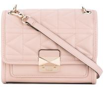 foldover quilted shoulder bag - women - Leder