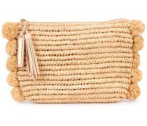 - straw clutch - women - Raffiabast