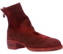 distressed zip-up boot