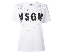 T-Shirt mit Perlenstickerei