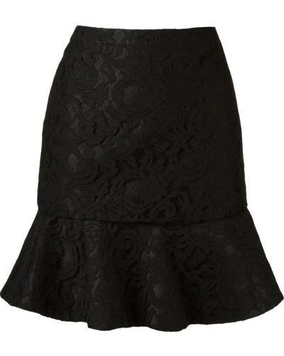 ruffled hem 'marescot' lace skirt