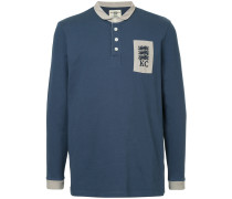 long-sleeve logo polo top
