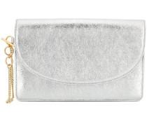metallic clutch bag