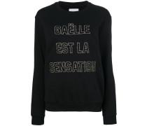 slogan stitch sweatshirt
