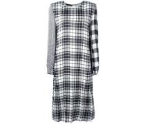 contrast plaid dress