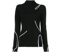 Long Sleeve Turtleneck With Cut Out Detail