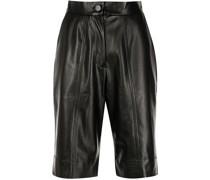 Shorts aus Faux Leder