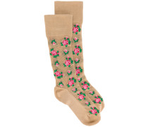 rose pattern socks