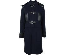 Mantel mit Ledereinsätzen