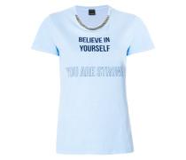 print and gemstone embellished T-shirt