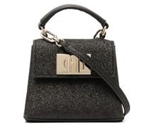 textured leather mini bag