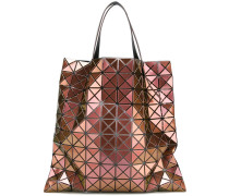 metallic geometric shopping bag