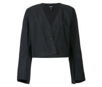 cropped flute sleeve jacket