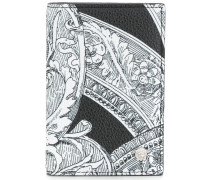 Baroque print long wallet