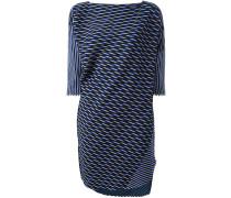 Lange Oversized-Jacquard-Bluse