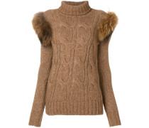 Pullover mit Pelzbesatz