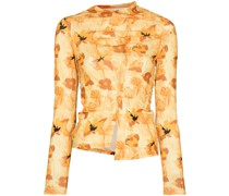 Alix long-sleeve floral-print top