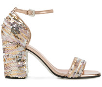 sequined sandals