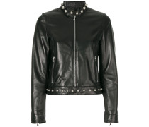 studded detail zip up jacket