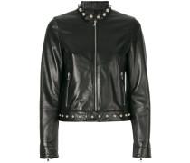 studded detail zip up jacket